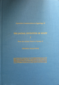 The Jackal Divinities of Egypt I (Cover)